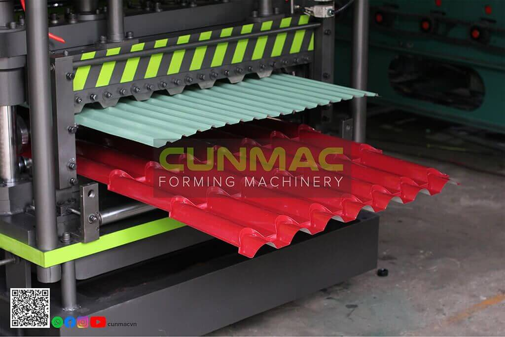 double layer roofing, 2 profiles machine, double layer machine, 2 floors machine