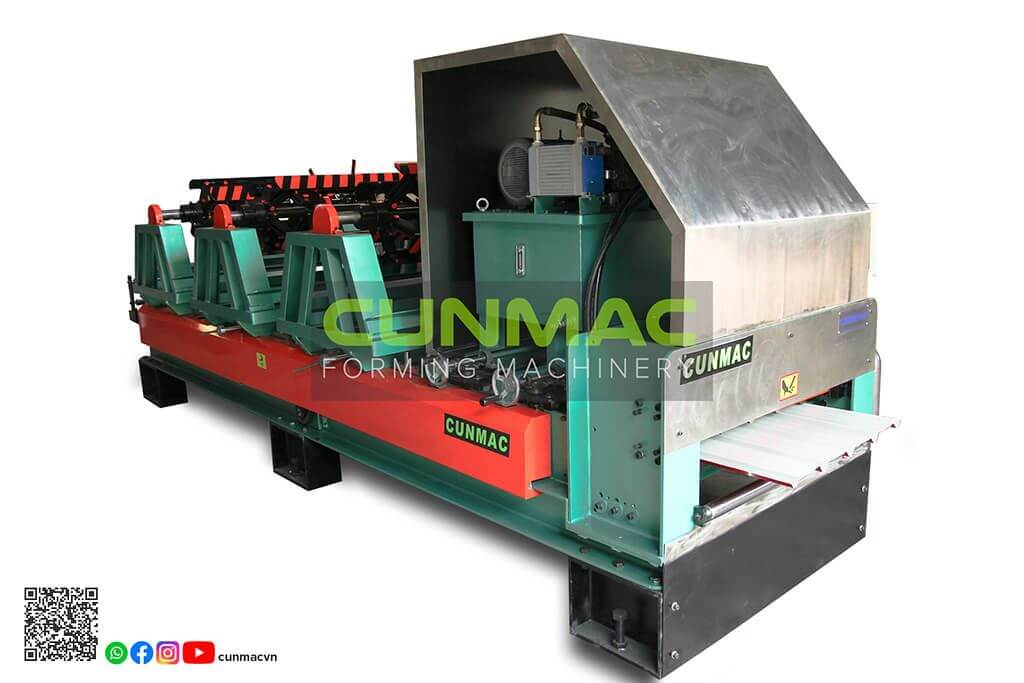 portable roofing, simple roofing, portable machine, roofing roll forming machine