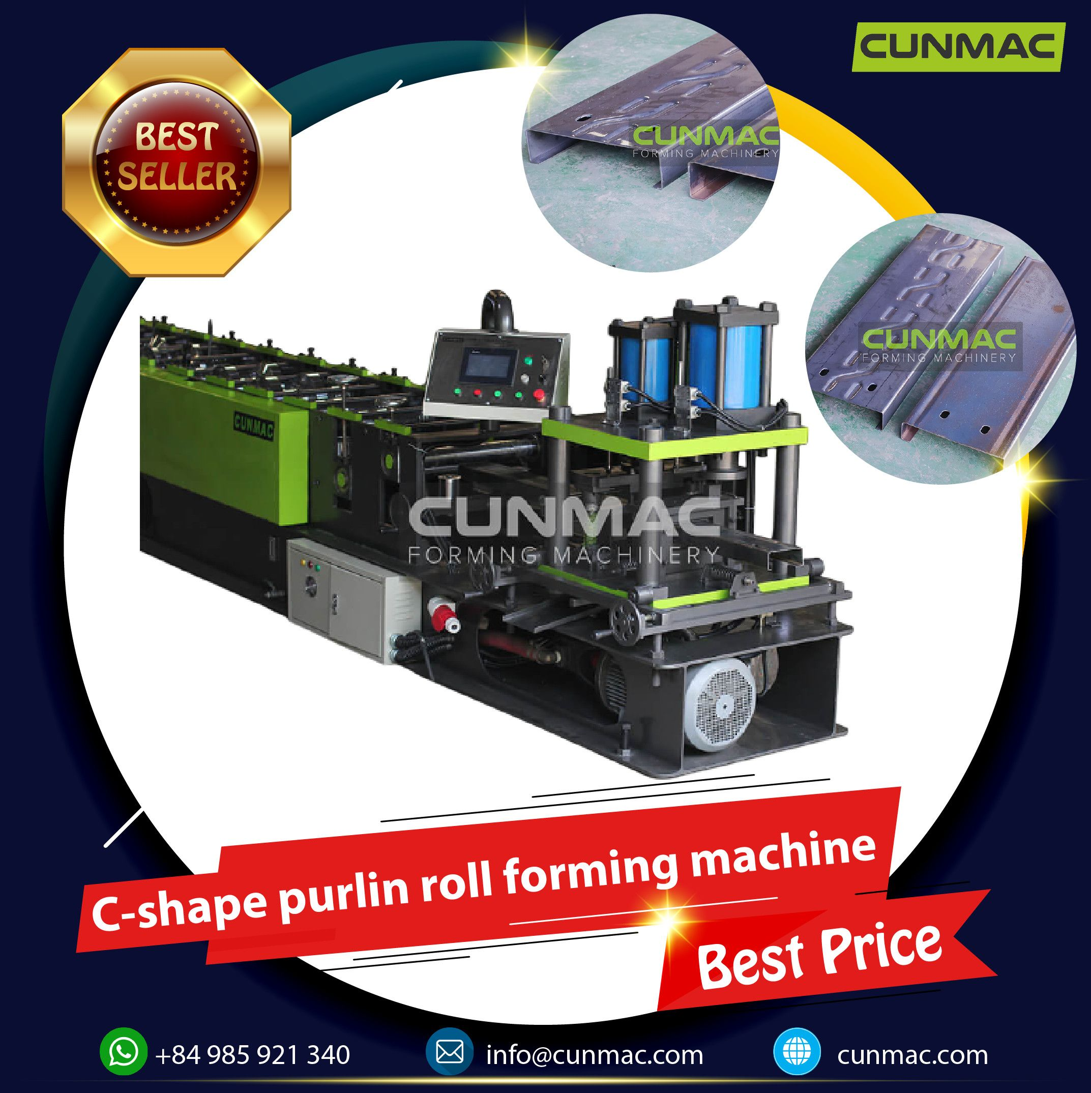 C-shape purlin roll forming machine