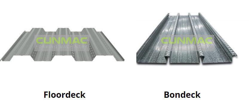 Bondeck machine, floor deck machine